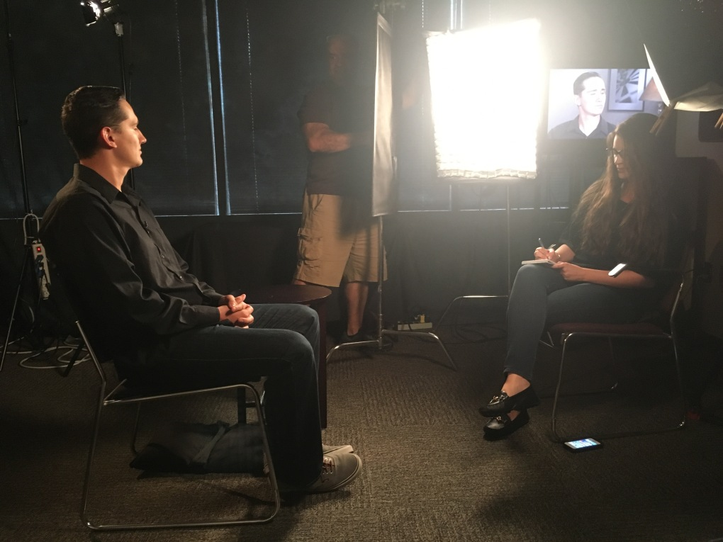 Ben during his interview.