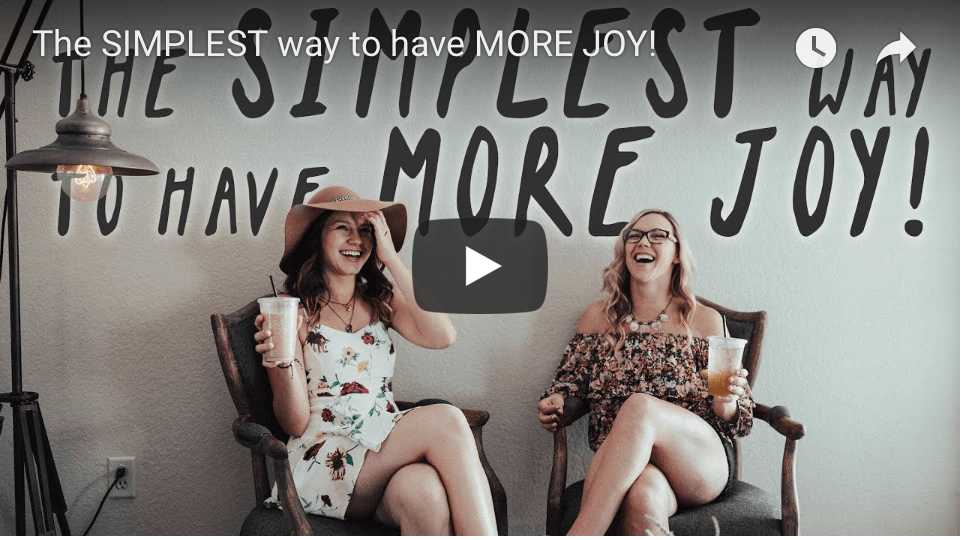 Simplest way to have More JOY